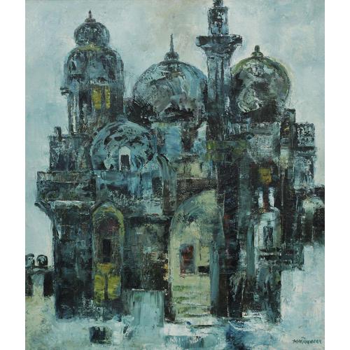 AA Almelkar canvas painting