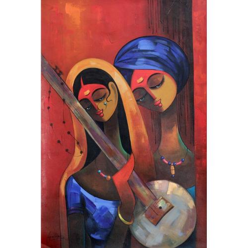 AJ Moujan musician painting