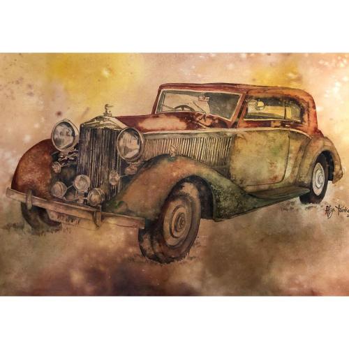 Afza Tamkanat vintage car painting