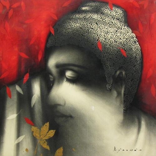 Ajay De buddha painting