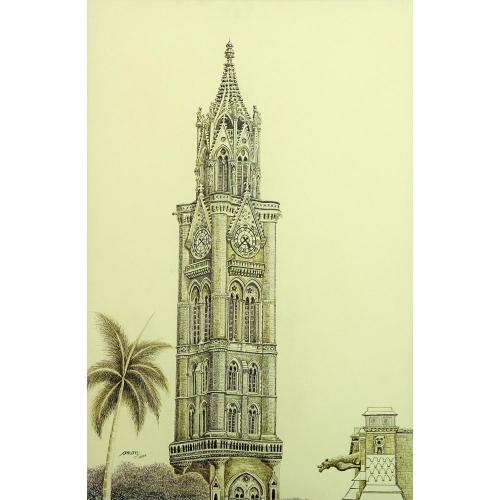 Aman rajabai clock Tower painting