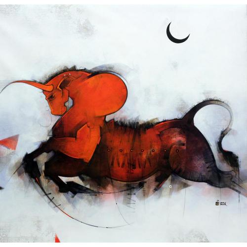 Amol Pawar figurative painting