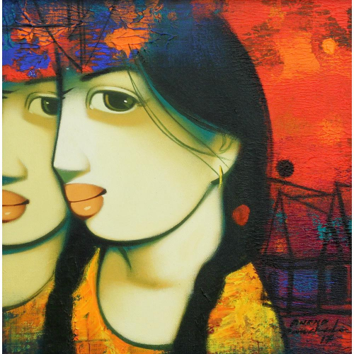 Anand Panchal figurative painting