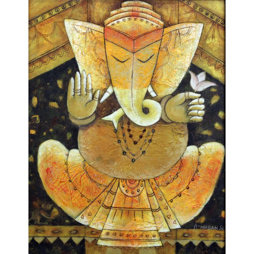 Anirban Seth ganesha painting