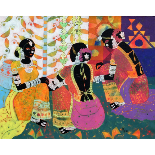 Anuradha Thakur rajasthani folk painting