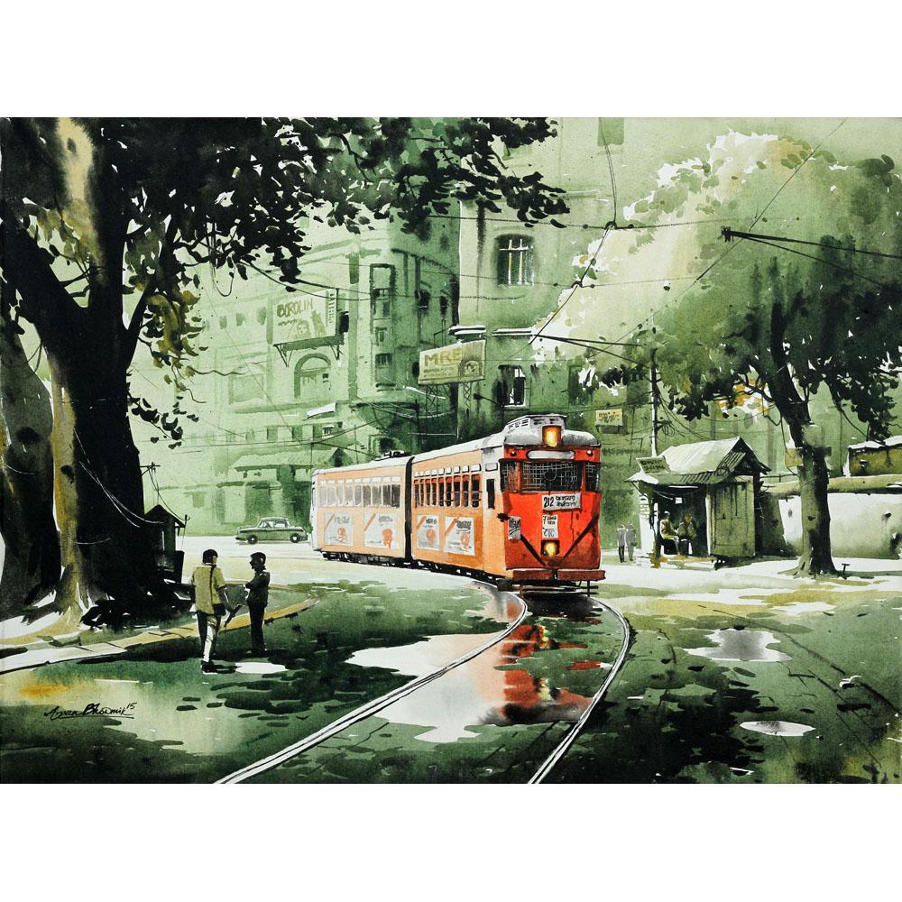Arpan Bhowmik landscape painting