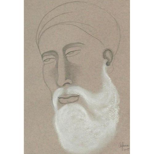 Arpana Caur guru nanak painting