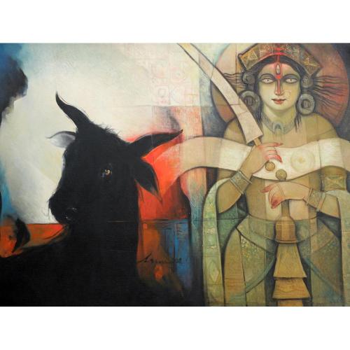 Arun Samadder figurative painting