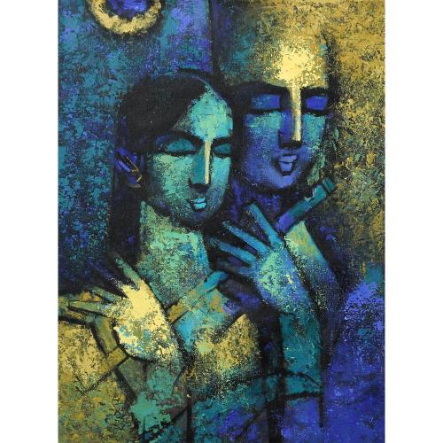 Arvind Kolapkar radha krishna painting