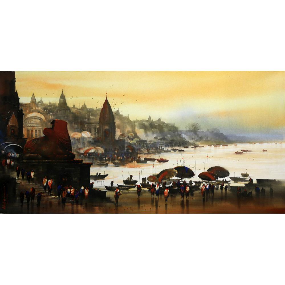 Ashif Hossain benares ghat painting