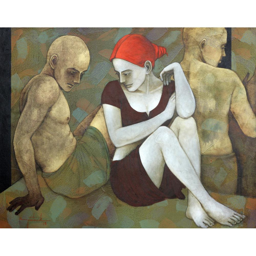 Asit Patnaik figurative painting