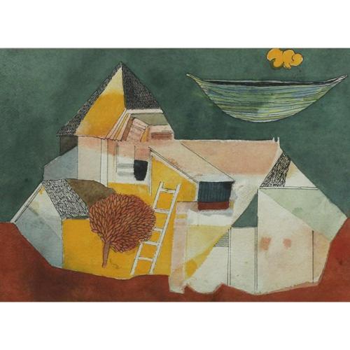 Badri Narayan water colour painting