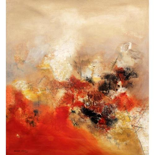 Balasaheb Abhang abstract painting