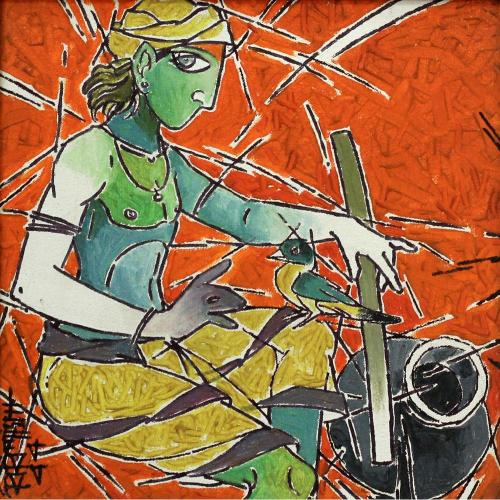 Biplab biswas figurative painting