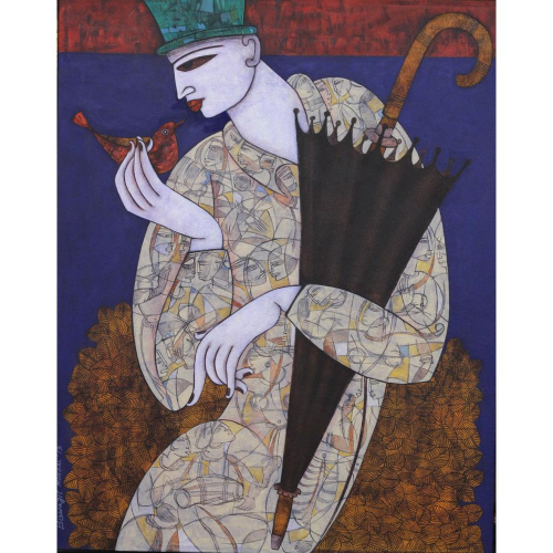 Biswajit Mondal figurative painting