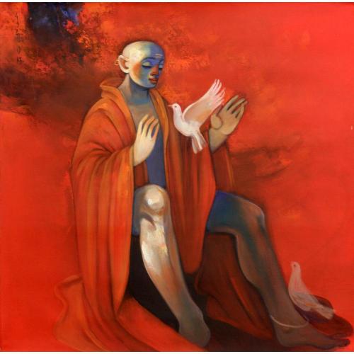 Buwa Shete figurative painting