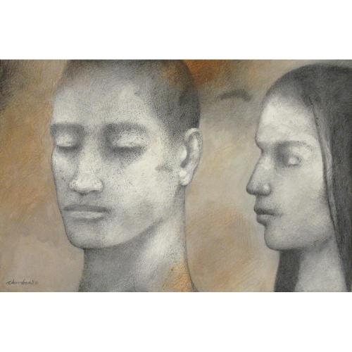 Chandra Bhattacharjee figurative painting