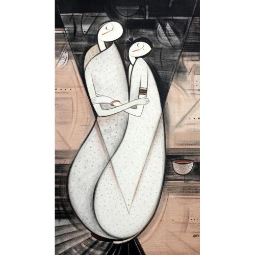 Datta Thombare figurative painting