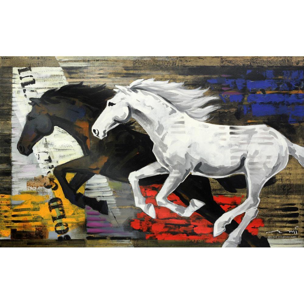 Devidas Dharmadhikari Horse painting