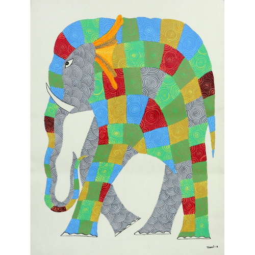 Dhawat Singh gond art painting