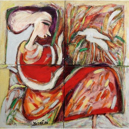 Dhiraj Choudhury figurative painting