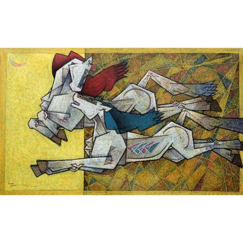 Dinkar Jadhav horse painting