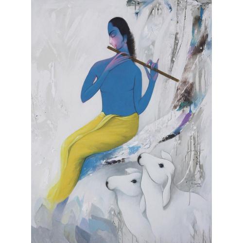 Eknath Giram krishna painting