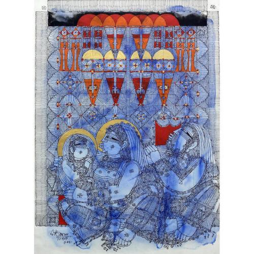 G Raman watercolour painting
