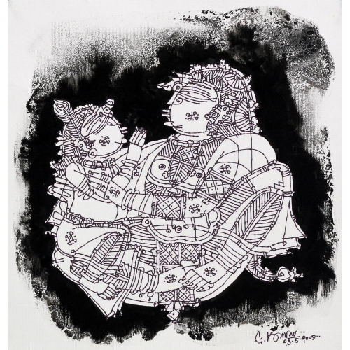 G Raman mother and child painting
