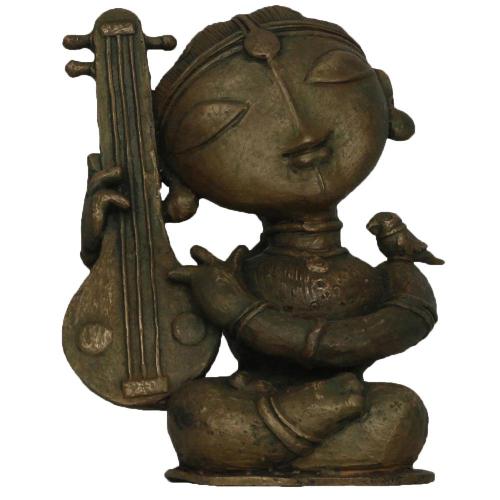 G Subramanian bronze sculpture