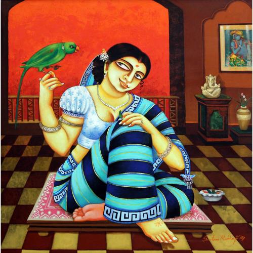 Gautam Mukherjee figurative painting