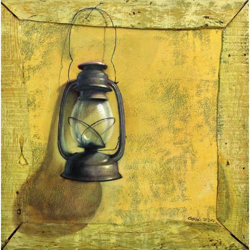 Gopal pardeshi lamp painting