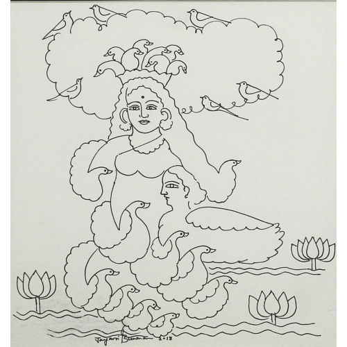 Jayasri Burman figurative painting