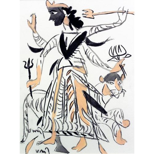 K G Subramanyan figurative painting