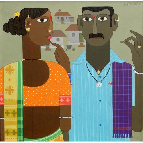 Kandi Narsimhulu figurative painting
