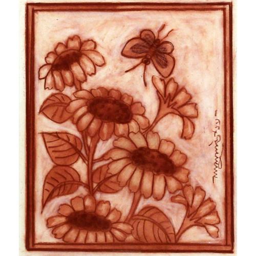 Lalu Prasad Shaw flower painting