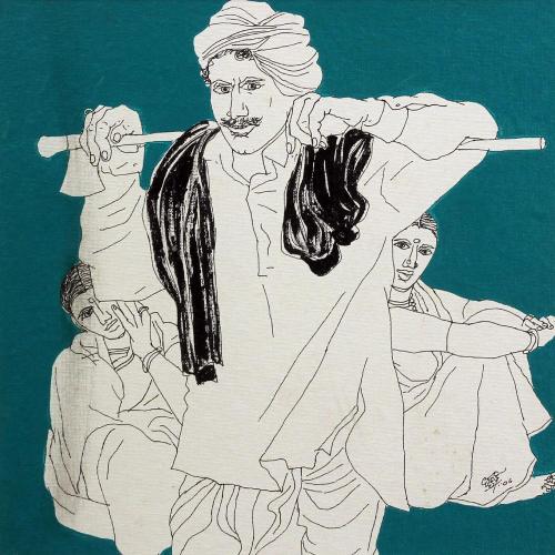 Laxman Aelay figurative painting