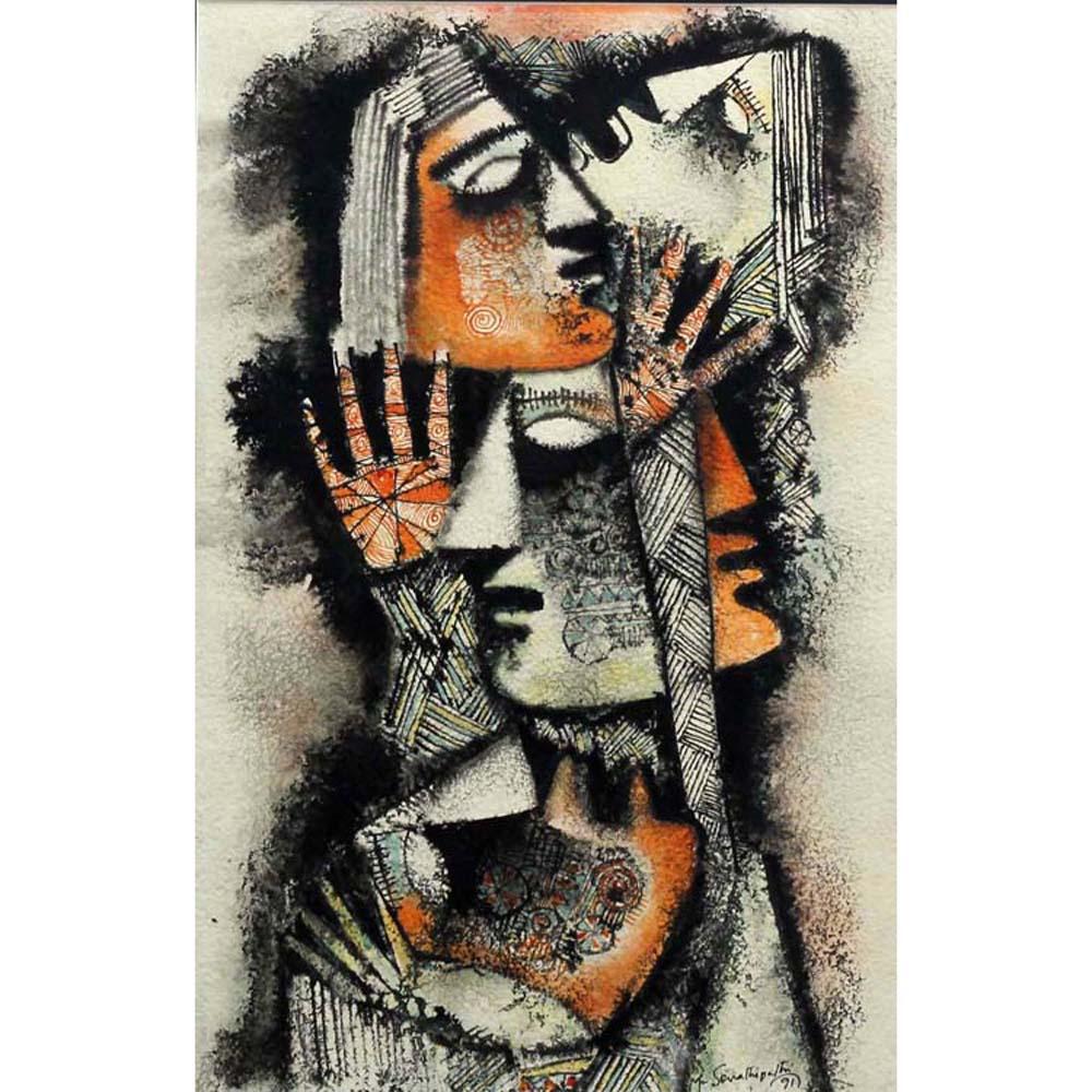 M Senathipathi figurative painting