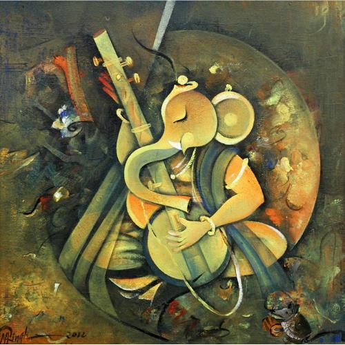 Mohan Singh ganesha painting