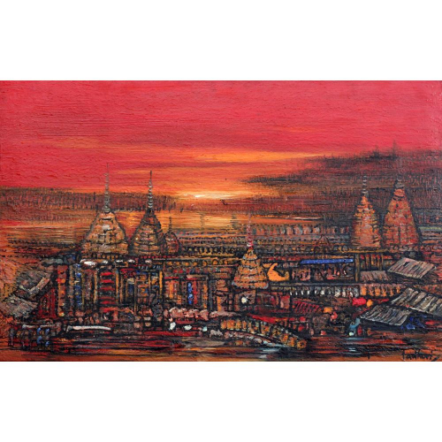 Madhuri Bhaduri landscape painting