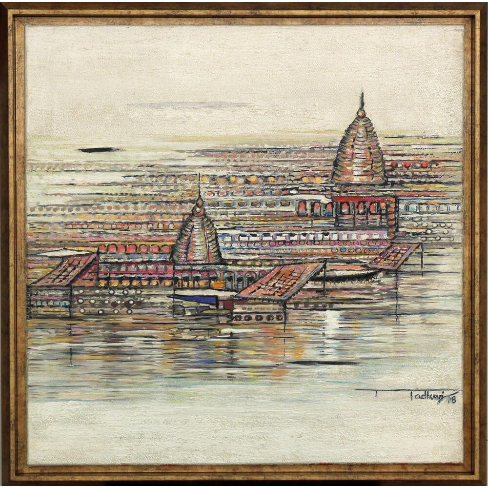 Madhuri Bhaduri banaras painting
