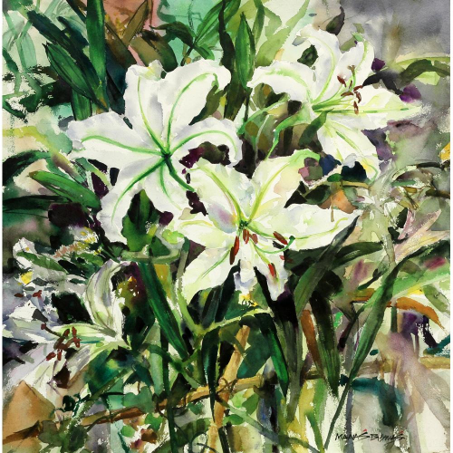 Manas Biswas flower painting