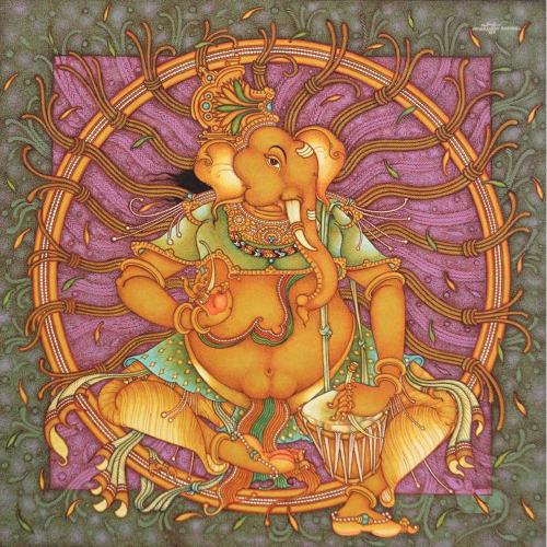 Manikandan Punnakkal ganesha painting