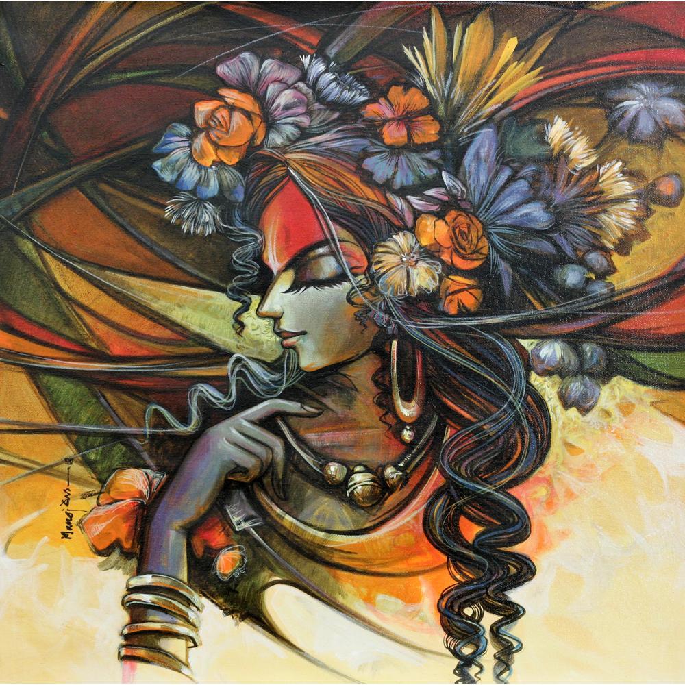 Manoj Das radha painting