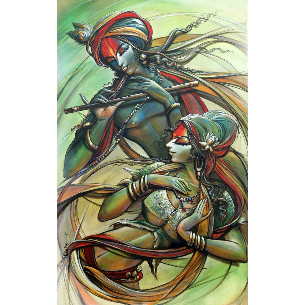 Manoj Das radha and krishna painting