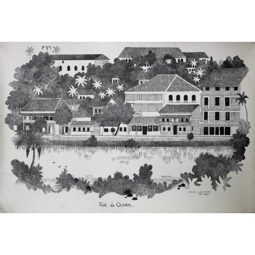 Mario Miranda landscape painting
