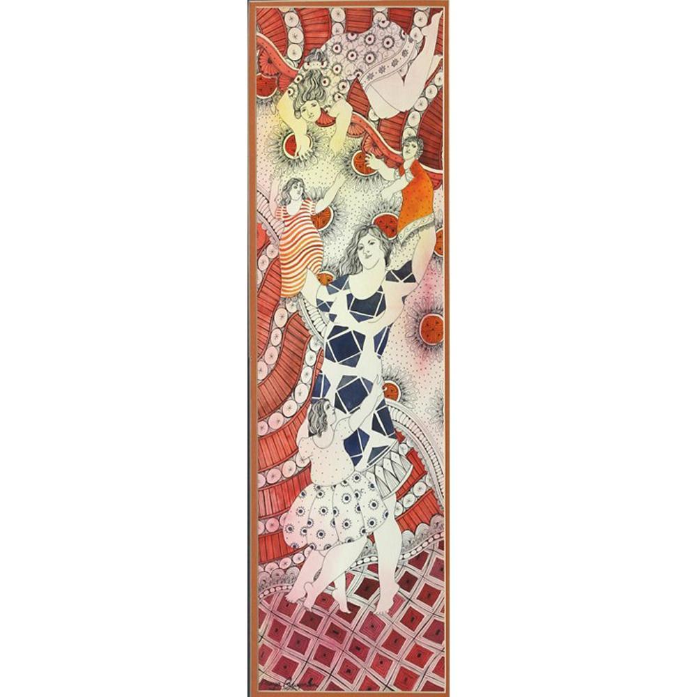 Maya Burman watercolour painting