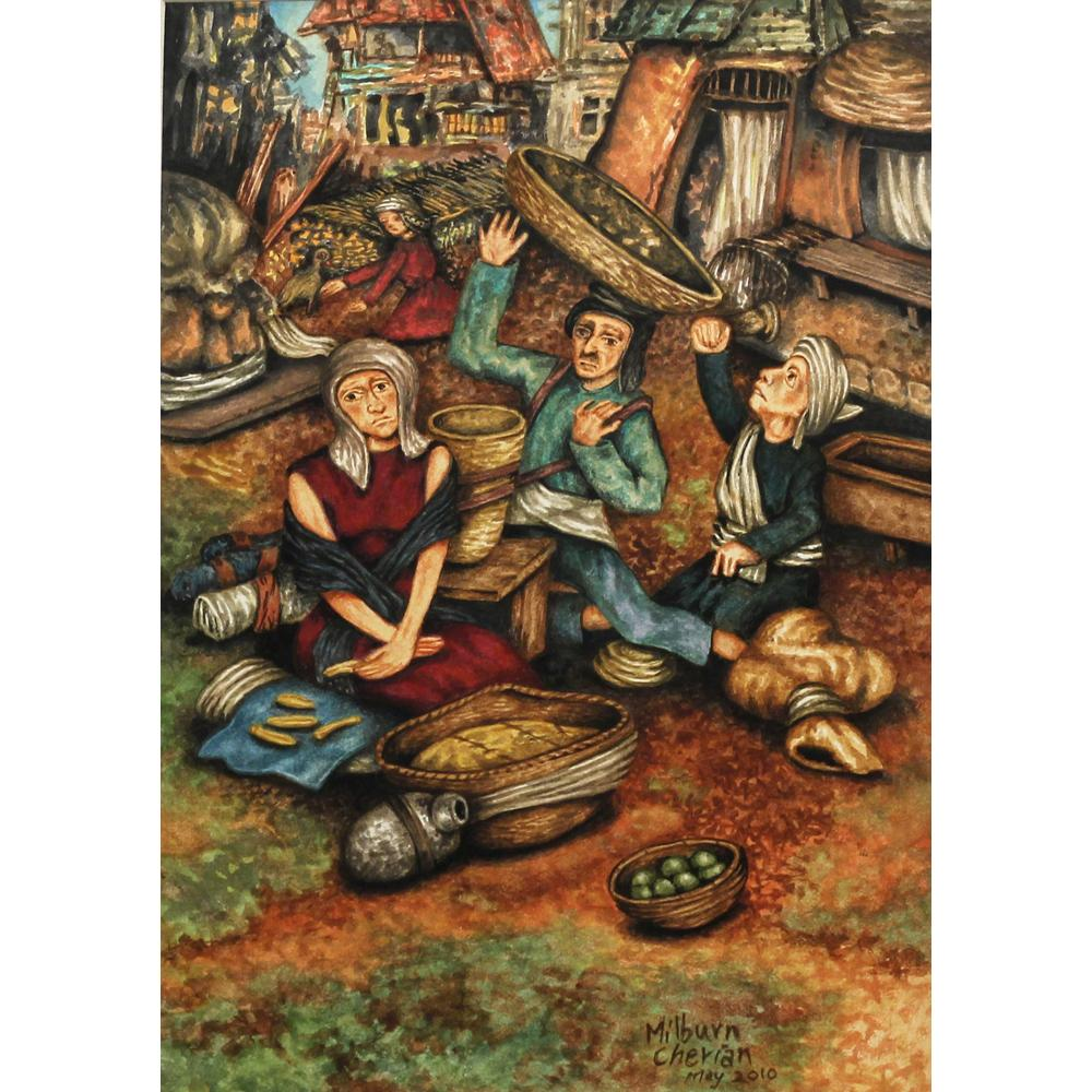 Milburn Cherian figurative painting