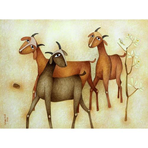 Mohan Naik animals painting