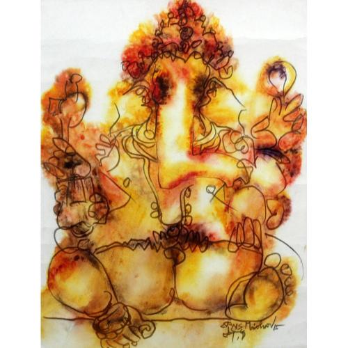NS Manohar ganesha painting
